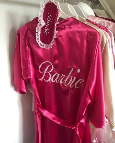 Szlafrok satynowy Barbie +...