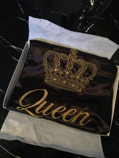 Szlafrok satynowy Queen
