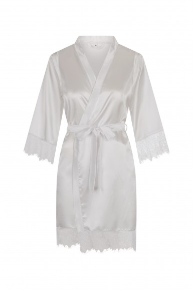 Bathrobe satin Ladies with...